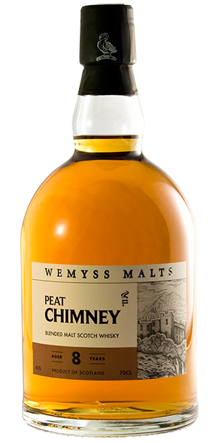 Wemyss Scotch Malts 'Peat Chimney' 8 Year Old bottle
