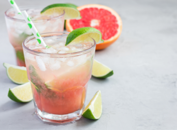 Honey Lime Grapefruit Margarita