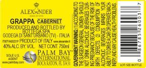Grappa di Cabernet - BK Label 750