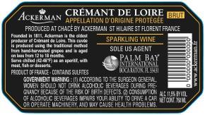 Crémant de Loire Sparkling Blanc BK Label
