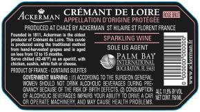 Crémant de Loire Sparkling Rose BK Label