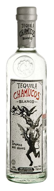 Chamucos Tequila Blanco bottle